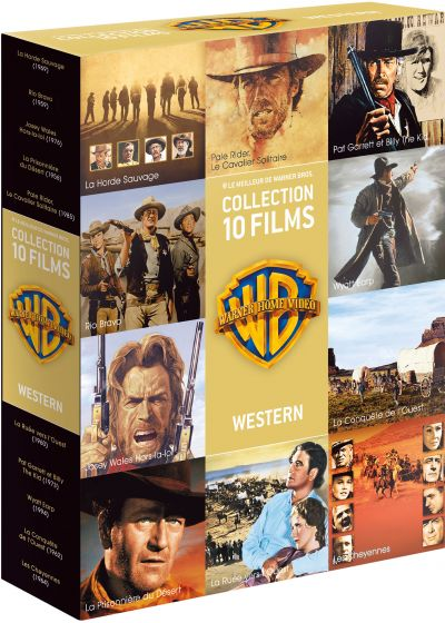 90 ans Warner - Coffret 10 films - Western - DVD
