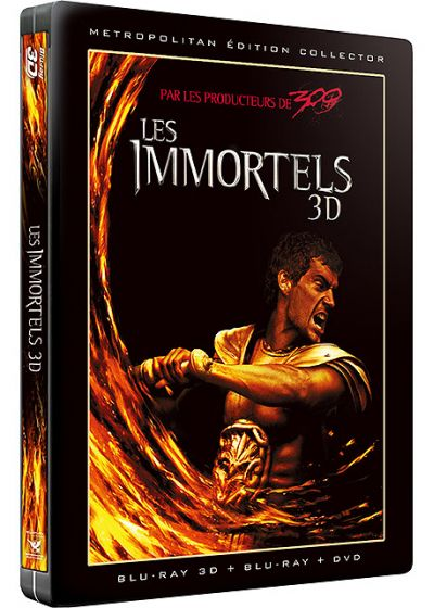 Les Immortels (Combo Blu-ray 3D + 2D + DVD - Édition Collector boîtier SteelBook) - Blu-ray 3D