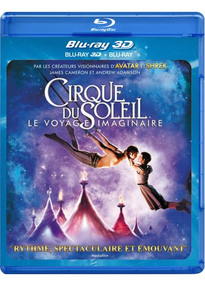Cirque du Soleil : le voyage imaginaire (Combo Blu-ray 3D + Blu-ray 2D) - Blu-ray 3D