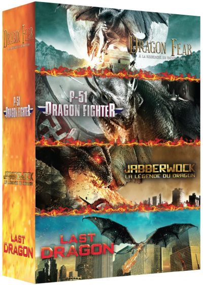 Dragons : P-51 Dragon Fighter + Dragon Fear - A la recherche du trésor perdu + The Last Dragon - L'ultime bataille + Jabberwock - La légende du Dragon (Pack) - DVD