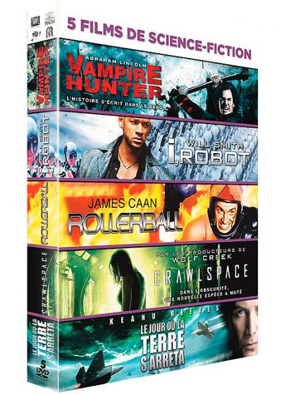 5 films de Science Fiction : Abraham Lincoln, Vampire Hunter + I, Robot + Rollerball + Crawlspace + Le jour où la terre s'arreta (Pack) - DVD