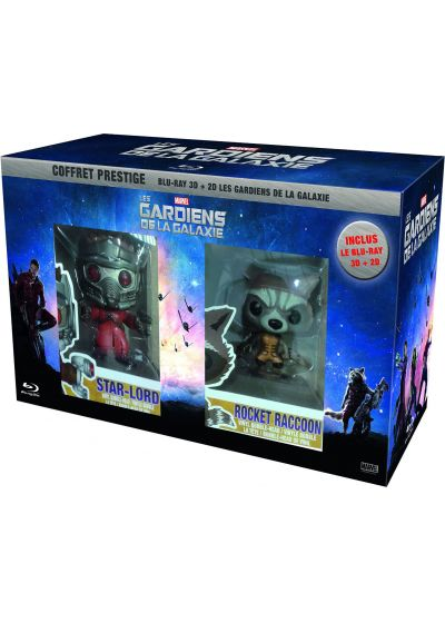 Les Gardiens de la galaxie (Coffret Prestige - Blu-ray 3D + Blu-ray 2D + Figurines - Exclusivité Amazon) - Blu-ray 3D