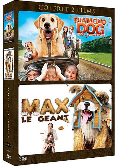 Animaux en folie : Diamond Dog : chien milliardaire + Max le géant (Pack) - DVD
