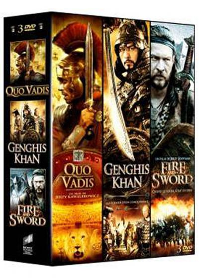 3 films épiques - Vol. 1 : Quo Vadis + Genghis Khan + Fire and Sword (Pack) - DVD