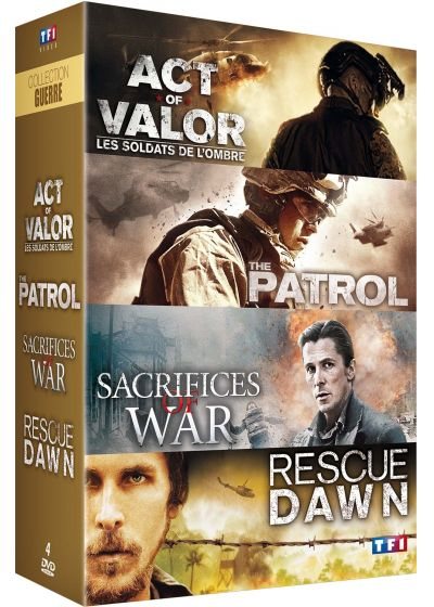 Collection Guerre : Act of Valor + The Patrol + Sacrifices of War + Rescue Dawn (Pack) - DVD