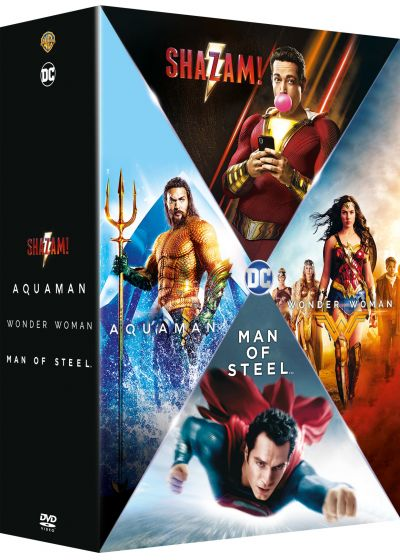 Origin Stories - Man of Steel + Wonder Woman + Aquaman + Shazam! (Pack) - DVD