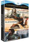 Guerriers de légende - Coffret 3 films : Alexandre + Braveheart + Kingdom of Heaven (Pack) - Blu-ray