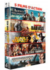 5 films d'action : L'agence tous risques + Bad Ass + Deadly Impact + Bad Yankee + Commando (Pack) - DVD