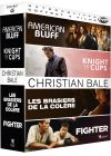 Christian Bale : American Bluff + Knight of Cups + Les Brasiers de la colère + Fighter (Pack) - DVD
