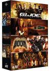 Coffret The Rock : G.I. Joe Conspiration + Le Roi Scorpion + Doom + Le retour de la Momie (Pack) - DVD
