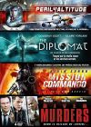 Coffret Action : Péril en attitude + The Diplomat + Mission Commando + River Murders (Pack) - DVD