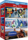 Coffret Pixar - Toy Story 3 + Monstres & Cie + Ratatouille (Pack) - Blu-ray