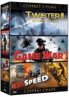 Chaos - Coffret 3 films : Twister II : Extreme Tornado + Game War + Exit Speed (Pack) - DVD