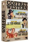 Coffret Western Volume 1 : Fort invincible + Le Fier rebelle + L'Attaque de Fort Douglas (Pack) - DVD