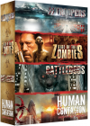 Zombies : Battledogs + SS Troopers + Rise of the Zombies + Human Contagion (Pack) - DVD
