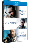 Russell Crowe - 3 grands films : Robin des Bois + Gladiator + Master and Commander (Pack Collector boîtier SteelBook) - Blu-ray
